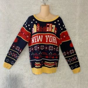 Tipsy Elves New York sweater NWT Sz M
